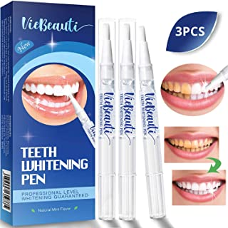 Teeth Whitening Pen(3 Pack), Safe 35% Carbamide Peroxide Gel, 20+ Uses, Effective, Painless, No Sensitivity, Travel-Friendly, Easy to Use, Beautiful White Smile, Natural Mint Flavor