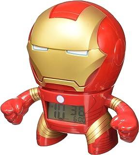 BulbBotz Reloj despertador infantil con luz, diseño de Iron Man de Marvel, color rojo y dorado, plástico, 19...