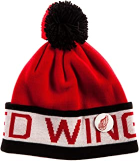 Men's Detroit Red Wings Pom Beanie