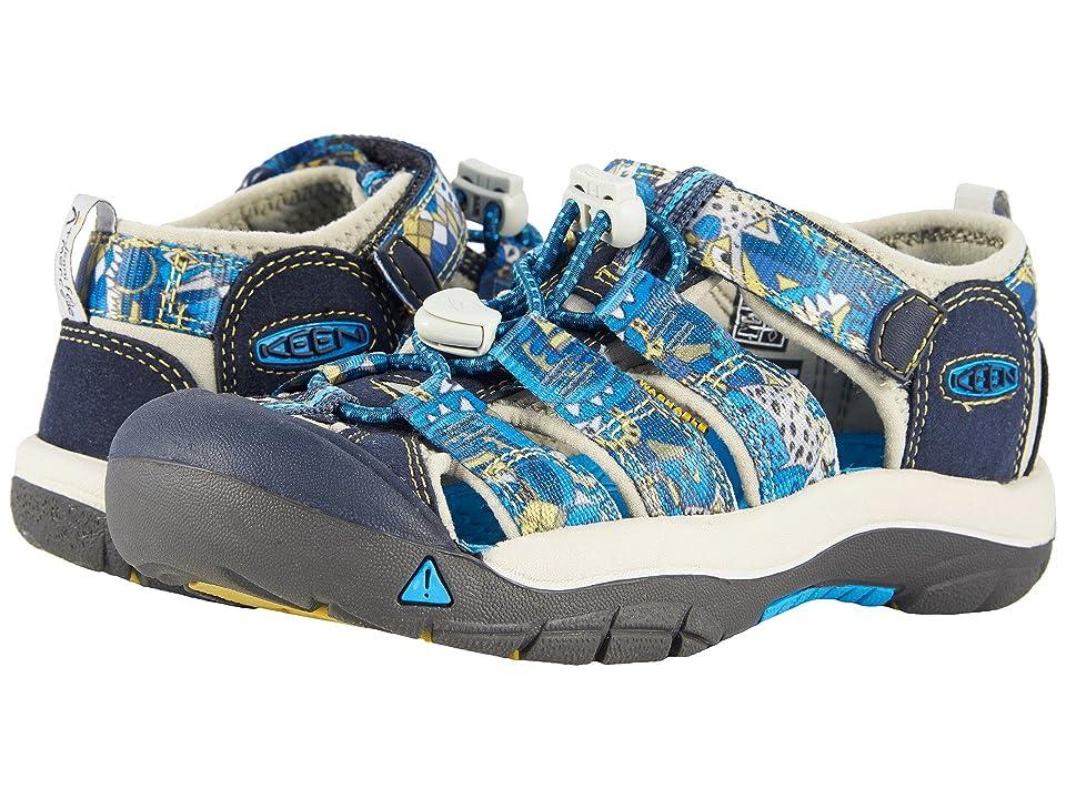 Keen Kids Newport H2 (Little Kid/Big Kid) (Blue Nights Print) Boys Shoes