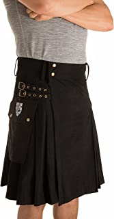 black and grey kilt