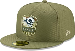 New Era Los Angeles RAMS 59fifty Basecap On Field 2019 Salute To Service