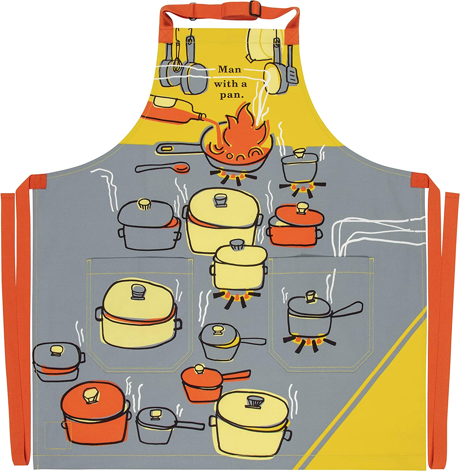 security Blue Ranking integrated 1st place Q Man with a Pan Apron