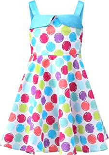 Bonny Billy Little Girl's Dresses Suspender Flower Print Children Cotton Sundress