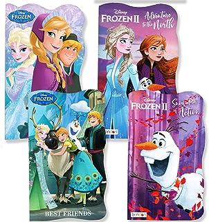 Disney Frozen and Frozen 2 Board Books (Set of 4 Shaped Board Books)