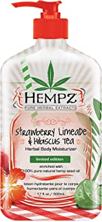 Hempz Strawberry limeade & hibiscus tea herbal body moisturizer, 17 Ounce