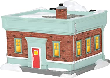 Department 56 Snow Village National Lampoon's Christmas Vaction Jelly of The Month Club Lit Building, 5.12 Inch, Multicol