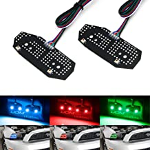 iJDMTOY RGBW Multicolor LED DRL Board Lighting Kit For 2013-2014 Ford Mustang, Smartphone Remote Controlled
