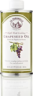 La Tourangelle Grapeseed Oil, 16.9-Ounce Cans (Pack of 3) (Packaging may Vary)
