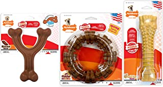 Nylabone ND1013 Power Chew Customer Favorites Dog Chew Toy Bundle - Dog Toys for Aggressive Chewers Bison & Flavor Medley ...