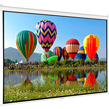 VIVO 100 inch Diagonal Projector Screen, 16:9 Projection HD Manual Pull Down (PS-M-100)