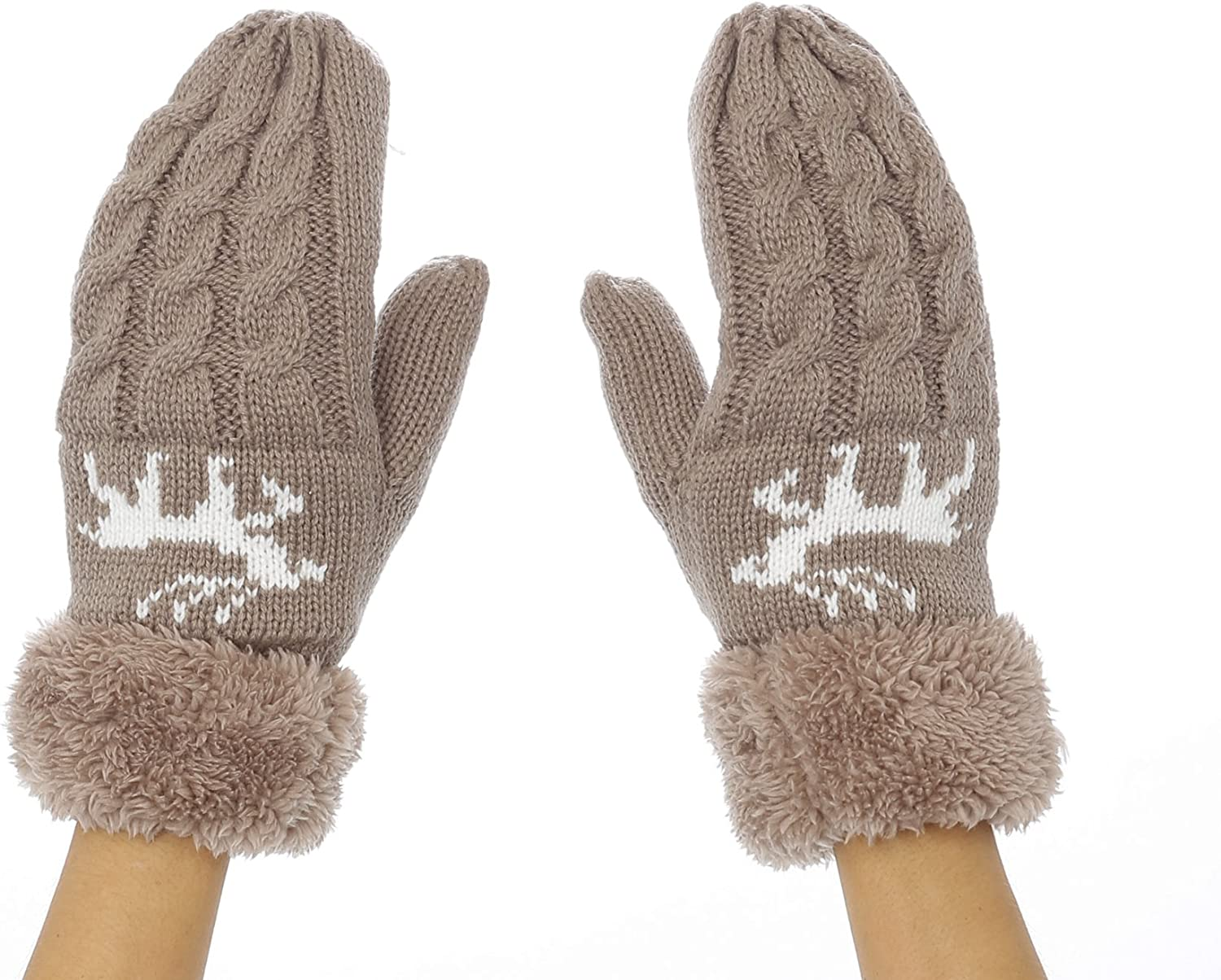 Warm Winter Thick Ultra-Cheap Deals Plush Mitten Gloves Re Max 58% OFF Lining Snowflake Or Fur