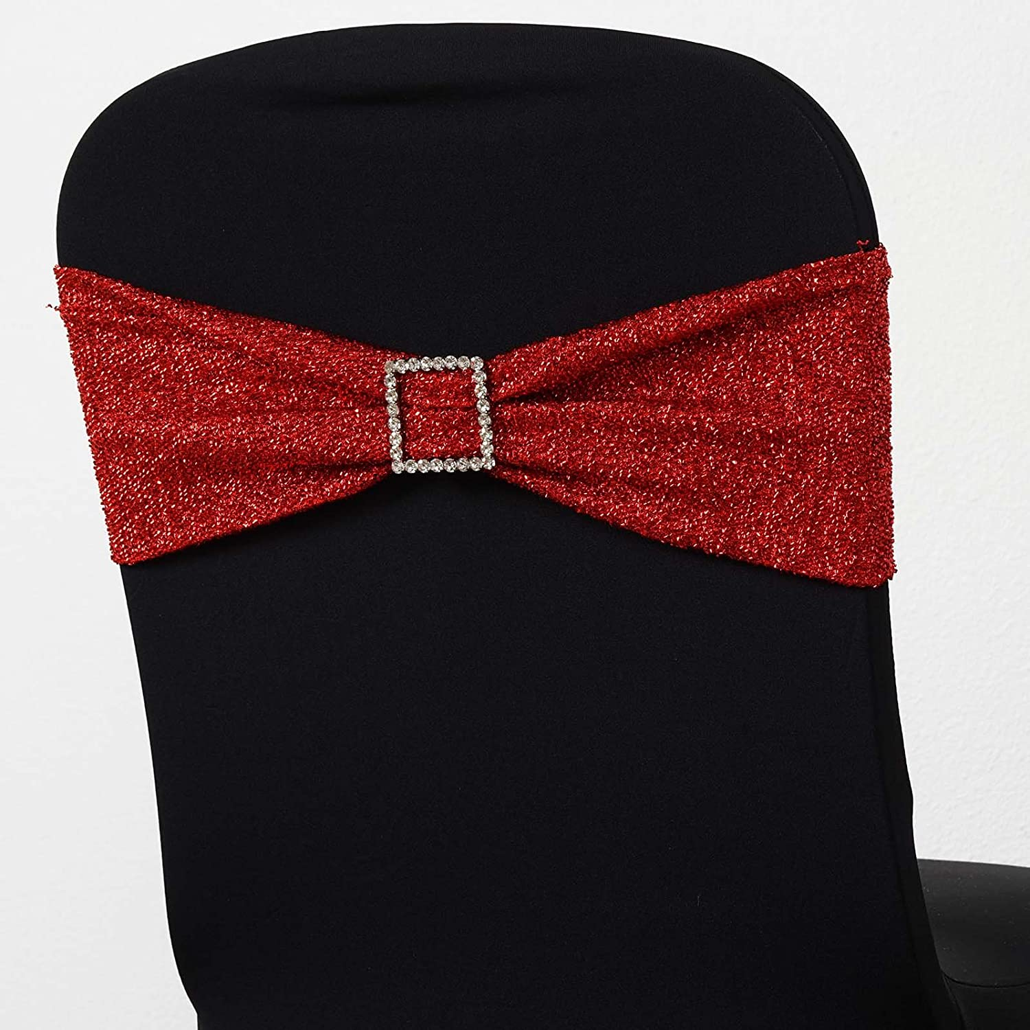 for 25 Glittered Spandex Chair Sale price Wedding Ceremon Max 57% OFF Sashes Wraps Ties