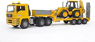 Bruder Toys Man TGA Low Loader Truck With JCB Backhoe Loader