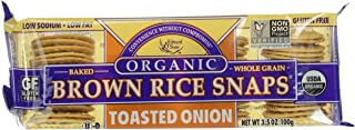Edward & Sons, Organic Brown Rice Snaps Crackers,  Toasted Onion, 3.5 oz