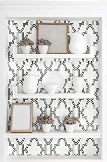 NextWall Tile Trellis Peel and Stick Wallpaper (Black & White)