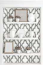 NextWall Tile Trellis Peel and Stick Wallpaper (Black & White)