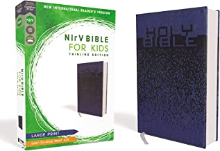 NIrV, Bible for Kids, Large Print, Leathersoft, Blue, Comfort Print: Thinline Edition