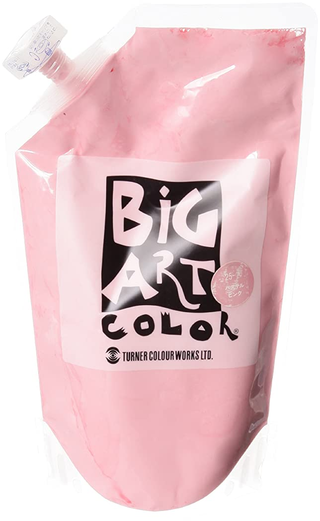 伝染性鎖オゾンターナー色彩 アクリル絵具 ビッグアートカラー パステルピンク BA700025 700ml