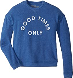 The Original Retro Brand Kids - Good Times Only Super Soft Haaci Pullover (Big Kids)