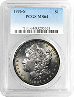 1886 S Morgan Dollar MS-64 PCGS $1 MS-64 PCGS