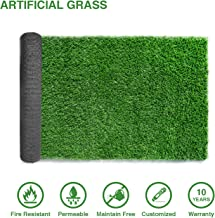 LITA 10ftx5ft Artificial Grass Fake Deluxe Synthetic Thick Lawn Pet Turf Perfect for Indoor/Outdoor Landscape, 5 ft x 10 FT (50 Square FT), Green