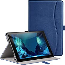 Ztotop Case for All-New Fire HD 10 Tablet (9th Generation/7th Generation, 2019/2017 Release) - Premium Leather Slim Multi-Angle Viewing Folding Stand Smart Cover with Auto Wake/Sleep, Naxy Blue