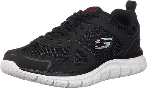 Skechers Men's Track Scloric Oxford, noir rouge, 7 M US