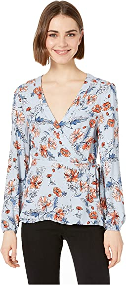 Send Flowers Rayon Wrap Blouse