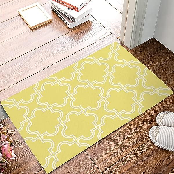 Libaoge Simple Lattice Doormat Welcome Mat Entrance Mat Indoor Outdoor Door Mats Floor Mat Bath Mat 16x24Inch