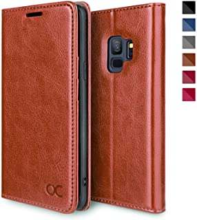 OCASE Samsung Galaxy S9 Case, Galaxy S9 Wallet Case with Card Holder [TPU Shockproof Interior Protective Case] [Kickstand] [Magnetic] Leather Flip Case Phone Cover for Samsung Galaxy S9 (Brown)