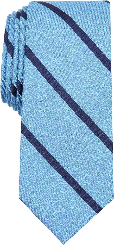Bar III Mens Abbey Silk Blend Striped Neck Tie