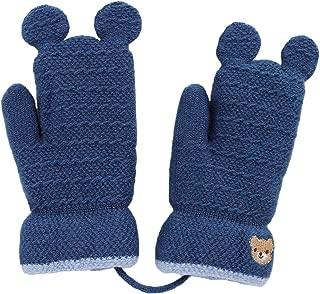 6 mesi blu Blue taglia unica Baby Girls Boys Block Colour Warm Winter Gathered foderato fine Knit Mittens neonato