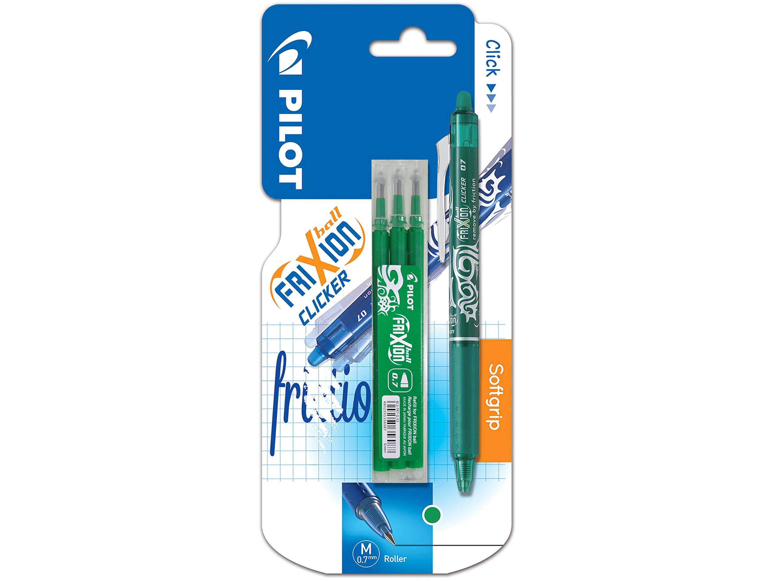 Pilot - Estuche de 3 bolígrafos roller (tinta de gel, termosensibles, punta mediana), color verde: Amazon.es: Oficina y papelería