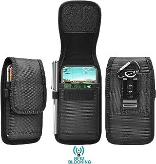 Tekcoo Universal Phone Holster Fit for Xiaomi Mi 9/9T Pro/Redmi Note 7/Redmi 6/Moto G7 Power/alcatel 3 Nylon Belt Clip Pou...