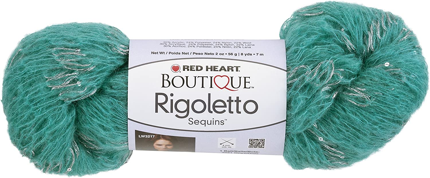 Red Heart Boutique Rigoletto YarnJadeSequins