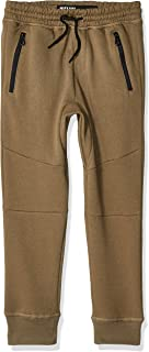Brooklyn Athletics Boys Fleece Jogger Pants Active Zipper Pocket Sweatpants Sweatpants - Green - 4