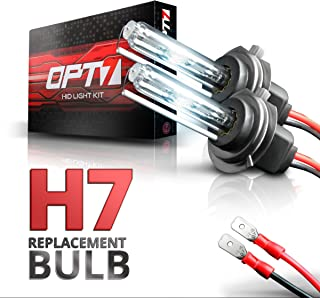 OPT7 2pc Blitz H7 Replacement HID Bulbs [8000K Ice Blue] Xenon Light