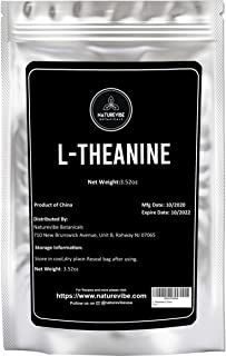Sponsored Ad - Naturevibe Botanicals L-Theanine Powder, 3.52 Ounces | Non-GMO, Vegan and Gluten Free | Immunity Booster (1...