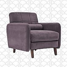 "Elle Decor 26"" Mid-Century Modern Natalie Arm Chair in Blue Gray"