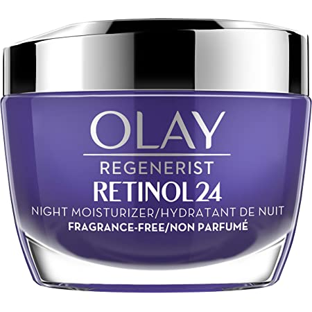 Olay Regenerist Retinol 24 Night Moisturizer cream, Fragrance free, 1.7 Fl Oz