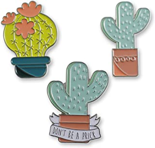 Cactus Enamel Lapel Pins - Individual Pins & Full Set Available
