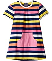Toobydoo - Santa Monica Stripe Pocket Dress (Infant/Toddler)
