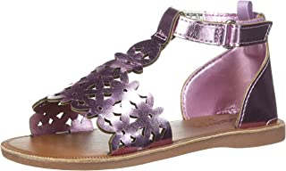 Kids Winnie Girl's Metallic Flower T-Strap Sandal