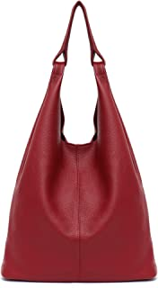Women's Hobo Handbag STEPHIECATH Italian Genuine Leather Slouchy Shoulder Bag Large Casual Vintage Style Tote Bags
