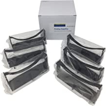 6 Black or Purple Compatible Replacement M-147-G M147G TM-H6000 III Slip Printer Fabric Printing Ink Ribbon Cartridge to Replace ERC-32 Nylon POS Cash Receipt Register Machine/dot Matrix Printer