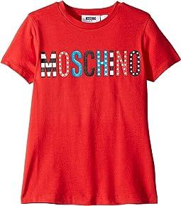 T-Shirt w/ Multicolor Logo (Little Kids/Big Kids)