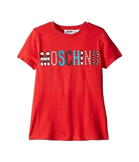 Moschino Kids T-Shirt w/ Multicolor Logo (Little Kids/Big Kids)