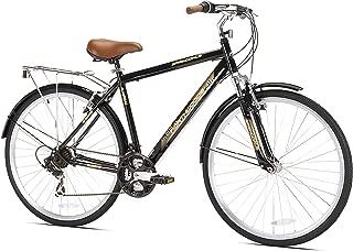 Northwoods Mens Springdale 21 Speed Hybrid bicicleta, negro