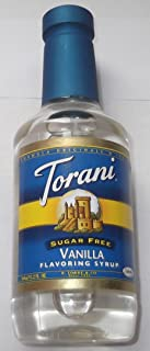 Torani Sugar-Free Flavoring Syrup, Vanilla, 12.2 Fl Ounce Bottle, 360 ml
